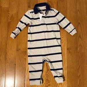 Ralph Lauren Baby Boy Rugby Romper (long sleeved)